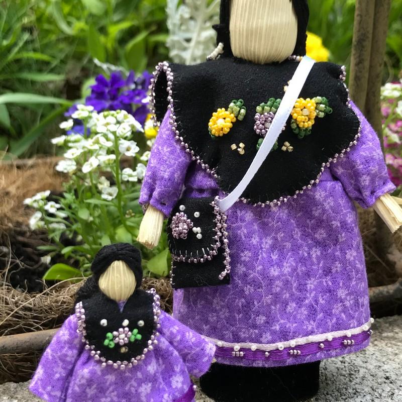 Cornhusk Doll Set by Penelope Minner